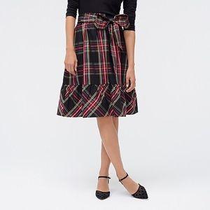 NWT J. Crew Stewart Plaid Midi Skirt size 2